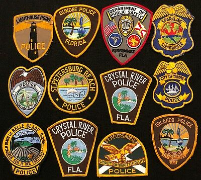 Florida Police Patch Mixed Lot - Sheriff Very Old v.2