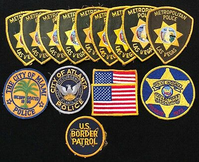 Misc USA Nevada Police Patch Mixed Lot - Sheriff Very Old v.2