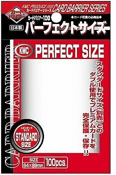 KMC Perfect Size Trading Card Sleeves Deck Protectors Standard Size 64x89mm - 10