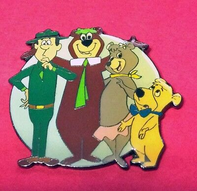 Yogi Bear, Cindy Bear, Ranger Smith, Boo Boo Bear Vintage Collector Pin