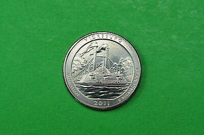 2011-D  BU  Mint State  (Vicksburg)  US National Park Quarter Coin