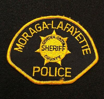 Moraga Lafayette California Police Patch  - Sheriff Very Old