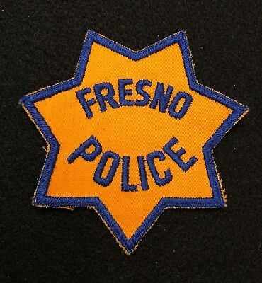 Fresno California Police Patch  - Sheriff Very Old