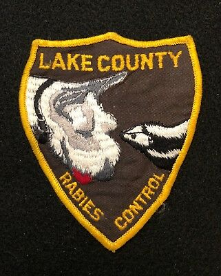 Lake County Illinois Rabies Animal Control Police Patch  - Sheriff Very Old