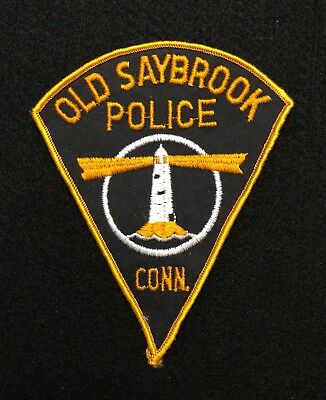 Old Saybrook Connecticut Police Patch  - Sheriff Very Old v.2