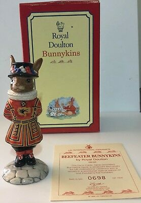 Royal Doulton Limited Edition DB163 Beefeater Bunnykins Figurine
