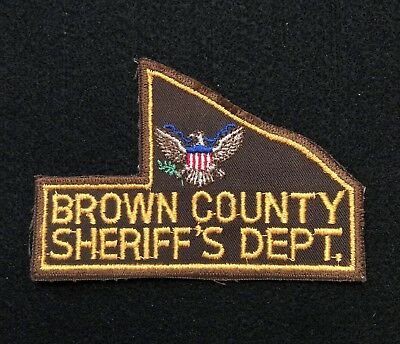 Brown County Police Patch  - Sheriff Very Old