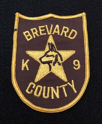 Brevard County Florida K9 Police Patch  - Sheriff Very Old EARLY ISSUE