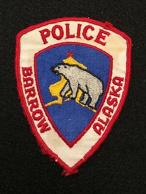 Barrow Alaska Police Patch  - Sheriff Very Old EARLY ISSUE RARE