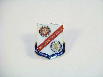 Marine Security Guard Battalion In Every Clime & Place Pinback Hat Label Pin