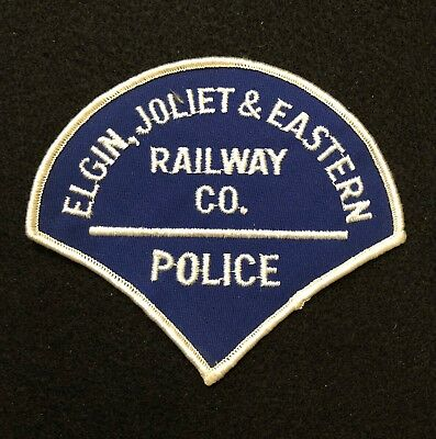 Elgin Joliet & Eastern Railway Police Patch  - Sheriff Very Old EARLY Rare