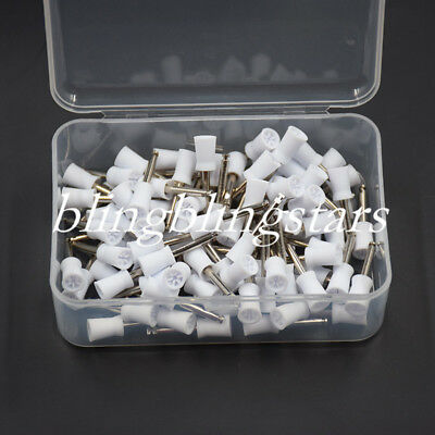 10 Pcs Dental Prophy Polisher Polishing Cup Latch Type Rubber Brushes 6 Webbed