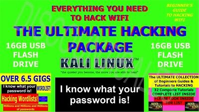 Ultimate Wifi Hack/hacking Package - 32Gb Usb - Wordlists - Beginners Guides +