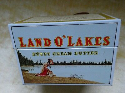 Vintage Land O Lakes Sweet Cream Butter Recipe Box / W. Index Cards.