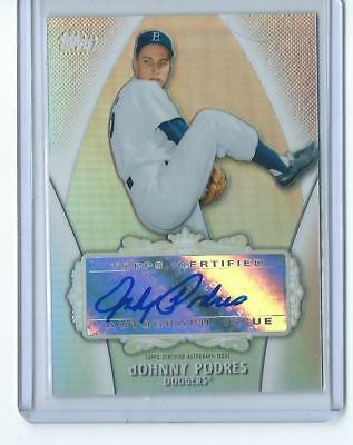 2013 Topps MLB Johnny Podres Los Angeles Dodgers Auto