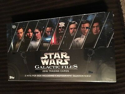 2018 Topps Star Wars  Galactic Files Hobby Box !! Brand New Factory Sealed !!