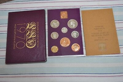 1970 Cased Set Proof Coins Of Great Britain And N. Ireland
