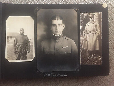 Original WWI US Army Air Service Photo Album Many Plane Photos Must See!