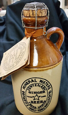 F.C.Grubb Mineral Waters Gladstone Centenary Ginger Beer Ceramic Jug 1980