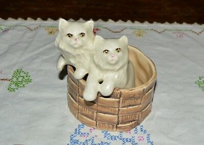 Sylvac Pottery Kittens In A Basket