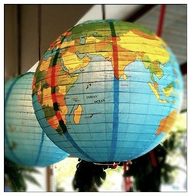 Vintage Style Globe of World 4 Paper Lampshade/Lantern