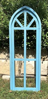 Wood Blue Wall Panel Distressed Antique Vintage Rustic Cottage Chic Decor