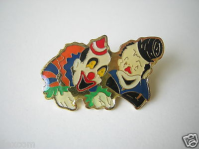 """Pin Anstecknadel  """"Clowns"""" Emailliert Email 4,0 x 2,3 cm / 7,5 g"""