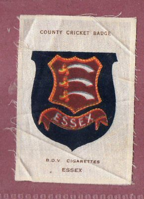 Silk cigarette cards 1921 County Cricket Club Badge Essex  #440