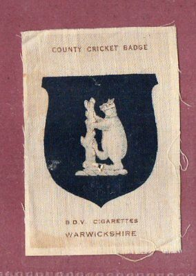 Silk cigarette cards 1921 County Cricket Club Badge Warwickshire   #642