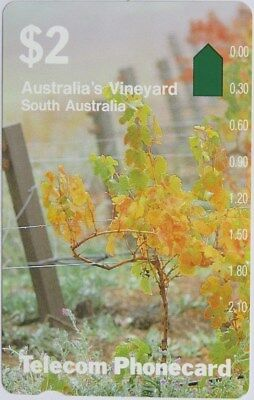 Telecom Phonecard – South Australia - $2 Vineyards (Prefix 7) - Mint
