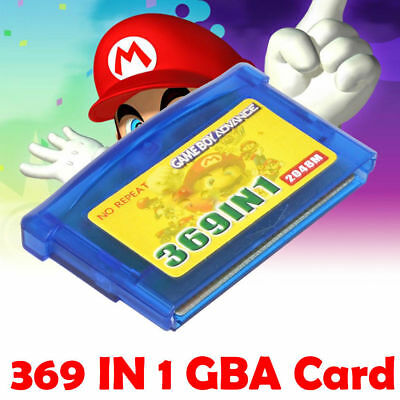 369 in 1 2048M GBA Games Pack Card NDS Game for Nintendo GBA SP NDS
