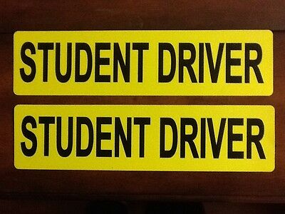 2 student driver magnetic signs