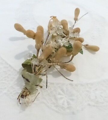 ANTIQUE - VICTORIAN - FRENCH WAX WEDDING CORSAGE ONLY- GREAT FOR 1920's WEDDING