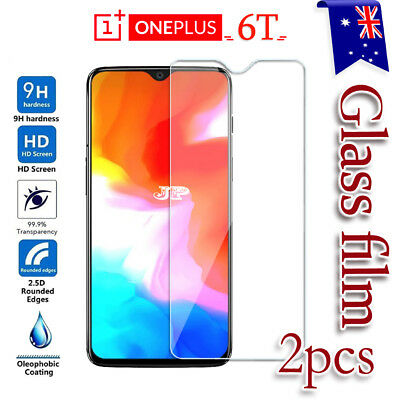 2x OnePlus 6T Tempered Glass / Pet LCD Screen Protector Film Guard