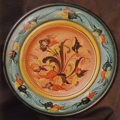 """Lois Mueller tole painting pattern """"Telemark Plate"""""""