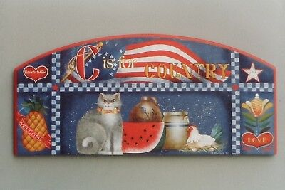 """Ronnie Bringle vintage tole painting pattern """"C is for Country"""""""