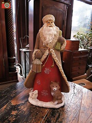 A Large Vintage Style Santa Led Lamp Figure. Lovely Character & Nice Gift