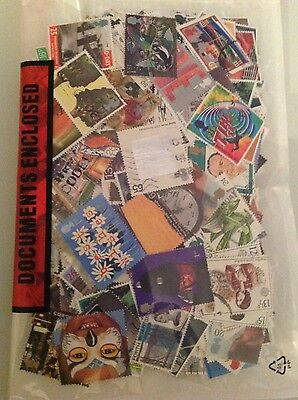 1000 Assorted British and Common Wealth Stamps new and used off paper