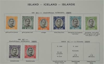 Iceland 8 Early Stamps  1920 To 1 Kr. Officials  H/m   (S10)