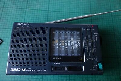 Sony Radio FM/SW 1-9 MW/LW 12 band receiver ICF-SW10