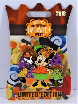 Disney 2018 Not So Scary Halloween Party Minnie As Cup Cake 3-D Pin LE 5450 NEW