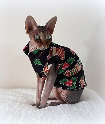 ELEGANT Christmas Sphynx cat clothing, cat jumper, Sphynx clothes HOTSPHYNX