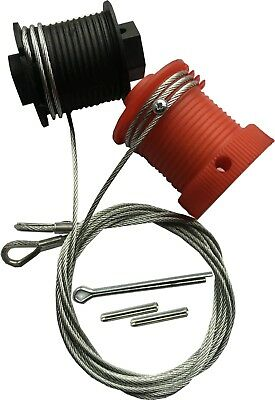Cardale CD PRO Safelift Garage Door Cables Wires Wessex B&Q Pulleys RED & BLACK