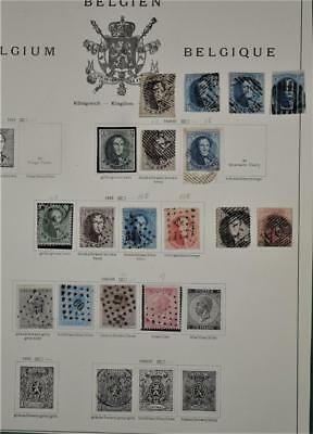 Belgium Stamps A Page Of Early Issues   (S73)