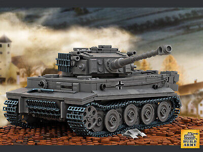 WW2 MOC German US USSR tank Tiger Panzer brick set minifigure+free Lego panel