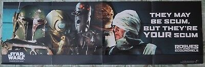 Boba Fett, Rogues And Scoundrels Poster, Star Wars Card Game, So-So Cond., Read