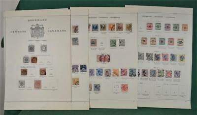 Denmark Stamps A Good Selection On 6 Pages Of Early Issues   (S77)