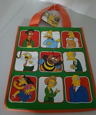 The Simpsons Shopping Tote Bag Brand New Rare Collectable green orange 2