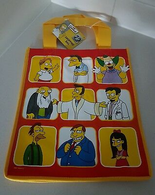 The Simpsons Shopping Tote Bag Brand New Rare Collectable red orange yellow