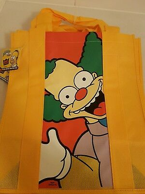 The Simpsons Shopping Tote Bag Brand New Rare Collectable Krusty special edition